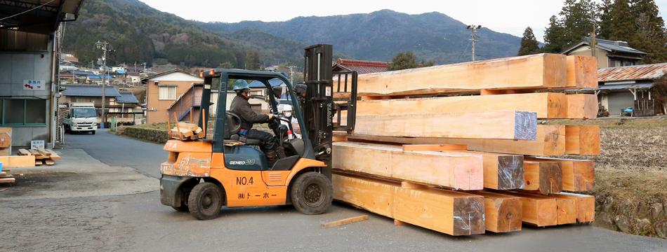社寺建築材、輸入木材、無垢階段、枡なら岐阜県の株式会社トーホー東濃ひのき