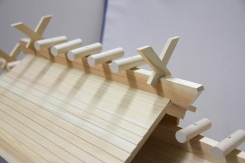 東濃ひのきの高級神棚お社千木鰹木部分(サブ5)